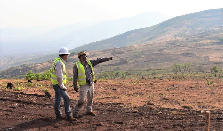 COO Dave Hammond, Geologist Benedito Madeleno and Site Manager Gavin Doyle - November 2019 COO Dave Hammond, Geologist Benedito Madeleno and Site Manager Gavin Doyle - November 2019 COO Dave Hammond and Geologist Gilson Victorino - Longonjo November 2019 COO Dave Hammond and Geologist Gilson Victorino - Longonjo November 2019 Drone Areomagnetic Survey November 2019 Drone Areomagnetic Survey November 2019 Team Photo - Longonjo NdPr Project Team Photo - Longonjo NdPr Project Drill Sampling Team on Site at Longonjo - November 2019 Drill Sampling Team on Site at Longonjo - November 2019 Campo Longonjo - August 2019 Campo Longonjo - August 2019 Riffle Spitting the Samples - November 2019 Riffle Spitting the Samples - November 2019 RC Drilling at Longonjo - November 2019 RC Drilling at Longonjo - November 2019 Drone Photo of Longonjo with bulk Sample containers November 2019 Drone Photo of Longonjo with bulk Sample containers November 2019 COO Dave Hammond discusses the project with Ministry and Local officials - Feb 2019 COO Dave Hammond discusses the project with Ministry and Local officials - Feb 2019 Excavator digging geotech pits Excavator digging geotech pits Material from 7 trenches in 40kg corn sacks Material from 7 trenches in 40kg corn sacks More bulk sample trenching, 5 September, Chimbilundo in background More bulk sample trenching, 5 September, Chimbilundo in background Trenching at Longonjo September 2019 Trenching at Longonjo September 2019 Sampling the spoil from the base of one of 23 trenches excavated to 5 metres for the 60 tonne bulk sample Sampling the spoil from the base of one of 23 trenches excavated to 5 metres for the 60 tonne bulk sample One of two storage sheds full of the 60 tonne bulk sample (40kg bags) - September 2019 One of two storage sheds full of the 60 tonne bulk sample (40kg bags) - September 2019 Trench sampling August 2019 Trench sampling August 2019 Meeting with Secretary of State for Power and Water - Sr Antonio Belsa da Costa - 5 