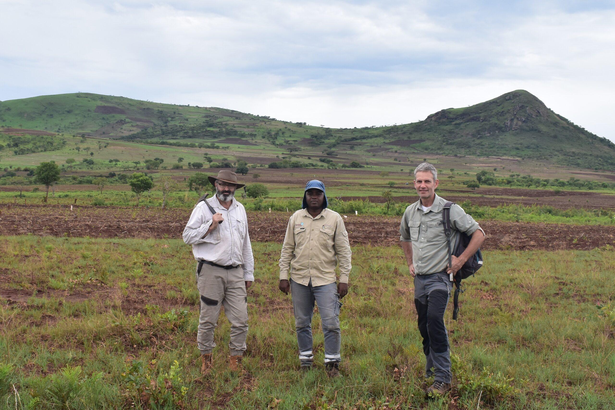 COO Dave Hammond, Geologist Benedito Madeleno and Site Manager Gavin Doyle - November 2019