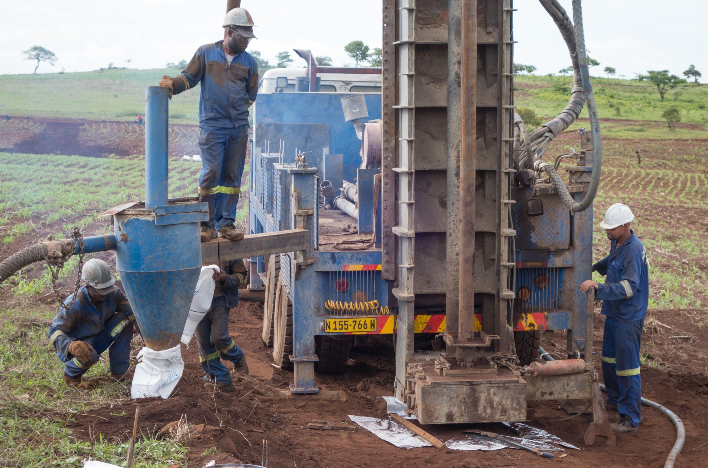 RC Drilling at Longonjo - November 2019