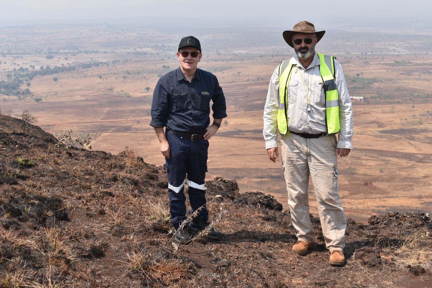 SRK Competent Person Rod Brown on site, Mt Chimbilundo view point, 27 August 2019