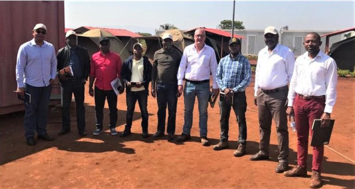 Longonjo NdPr Project Site inspection by Officials from the Ministry of Mineral Resources and Petroleum - 30 September 2019