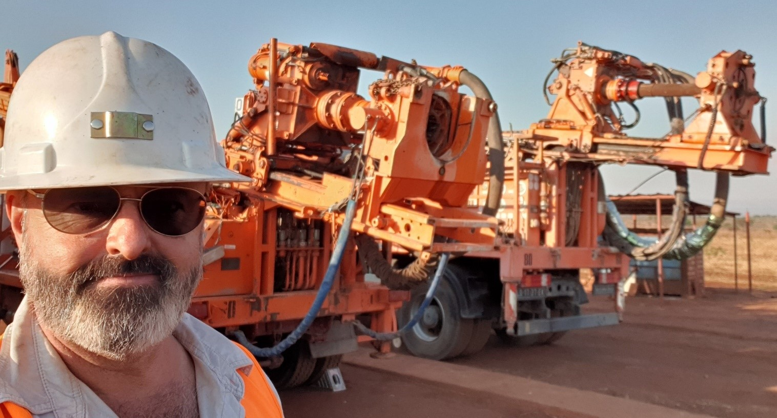 Two water bore rigs finally arrive at camp - August 2019